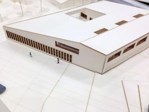 Roncallihaus Modell – Aufsicht vom Klassenberg Ost