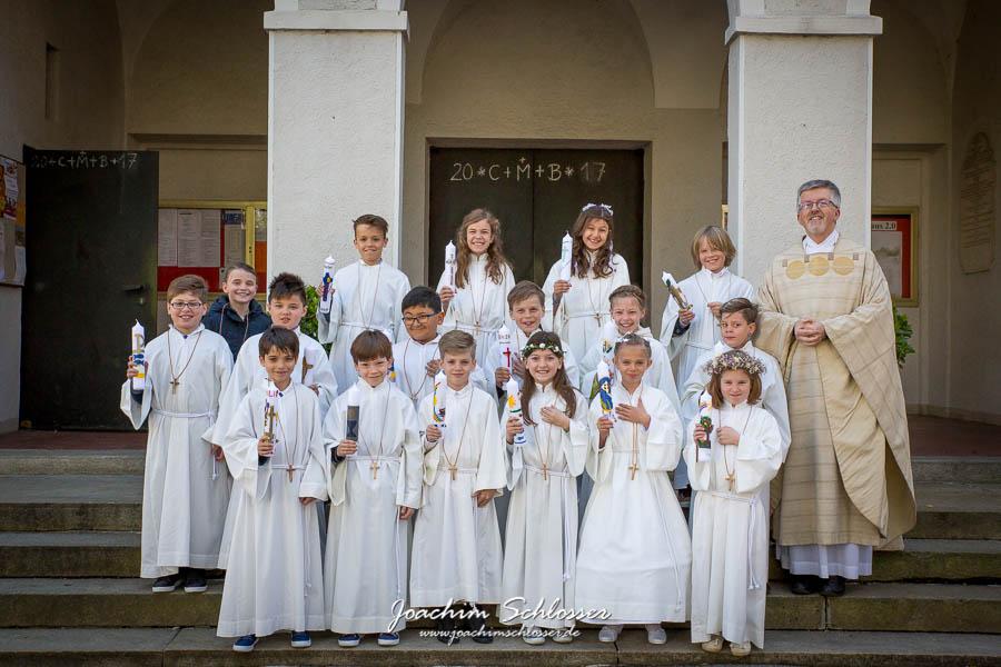 Erstkommunion 2017 Gruppenfoto St. Georg & Michael