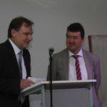 Geschaftsfuhrer Werner Blochum und Bürgermeister Dr. Stefan Kiefer
