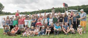 Zeltlager Gruppenfoto